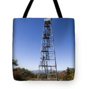 Fire Watch Tower Overlook Mountain Tote Bag