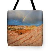 Fire Wave Rainbow Dawn Tote Bag