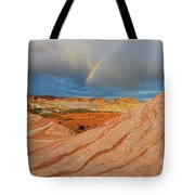 Fire Wave Rainbow Dawn Tote Bag