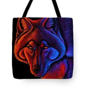 Fire Wolf Tote Bag