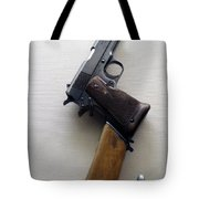Firearms 1917 Colt Model 1911 Semi Auto 45cal With Shoulder Stock Tote Bag