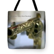 Firearms Gold Colt Single Action Army 45cal Revolver Tote Bag