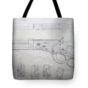 Firearms Lever Action Rifle Drawing Tote Bag