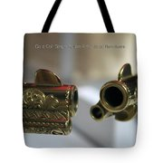 Firearms Pair Of Gold Colt Single Action Army 45cal Revolvers Tote Bag