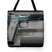 Firearms Smith And Wesson 1911 Semi Auto 45cal Pearl Handle Pistol Tote Bag
