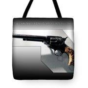 Firearms Tv Gunsmoke Marshall Dillon Colt Model 1873 Army Revolver Tote Bag