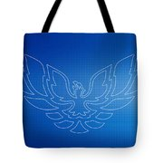 Firebird Blueprint Tote Bag