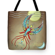 Firebird With Sun And Moon Tote Bag