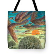 Firebirds At Sunset Tote Bag