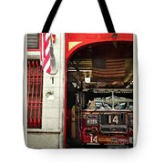 Firefighters Of New York - Engine Sweet 14 - Closeup Tote Bag