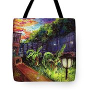 Fireflies In Woodfin Tote Bag