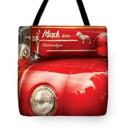 Fireman - An Old Fire Truck Tote Bag by Mike Savad