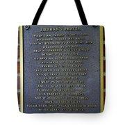 Fireman's Prayer Tote Bag
