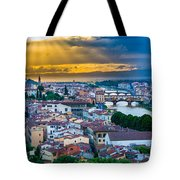 Firenze Sunset Tote Bag by Inge Johnsson