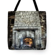 Fireplace At The Lodge Vertical Tote Bag