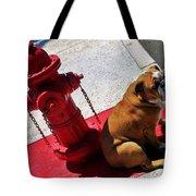 Fireplug Bulldog Tote Bag