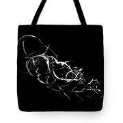 Fireweed Abstract Bw Tote Bag