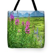Fireweed In The Foreground Tote Bag