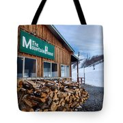 Firewood Ready To Burn In Fire Place Tote Bag