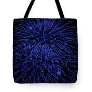 Firework Blues Tote Bag