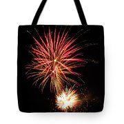 Firework Pink And Gold Tote Bag