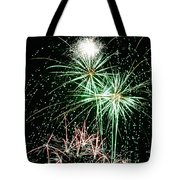 Fireworks 4 Tote Bag by Michael Peychich