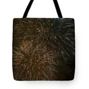 Fireworks 4 With Moon Tote Bag