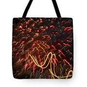 Fireworks Against The Stars Tote Bag