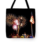 Fireworks And The Flag Tote Bag