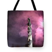 Fireworks And Totem Pole Tote Bag