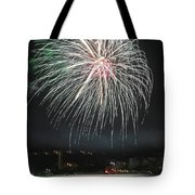 Fireworks And Wildlife Tote Bag