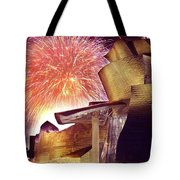 Fireworks At Guggenheim Tote Bag