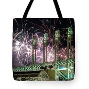 Fireworks At The Jake Tote Bag