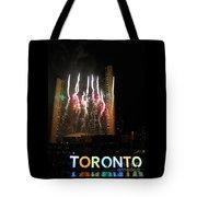 Fireworks At Toronto City Hall Tote Bag