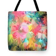 Fireworks Floral Abstract Square Tote Bag