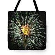 Fireworks Green Flower  Tote Bag