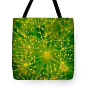 Fireworks Of Dill Flowers Tote Bag