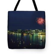 Fireworks Over Halifax Harbor Celebrate Tote Bag