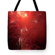 Fireworks Over Humboldt Bay Tote Bag