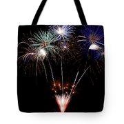 Fireworks Over Lake #14 Tote Bag
