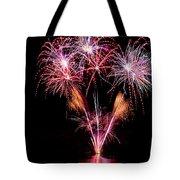 Fireworks Over Lake #15 Tote Bag