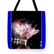 fireworks over San Rafael lake Tote Bag
