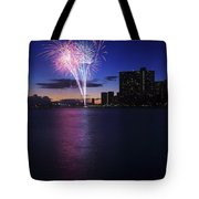 Fireworks Over Waikiki Tote Bag