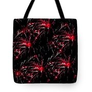 Fireworks - Red Bursts Tote Bag
