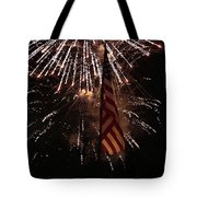 Fireworks With Flag Tote Bag