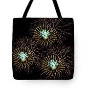 Fireworks - Yellow Spirals Tote Bag