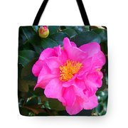 Firey Pink Camelia Tote Bag