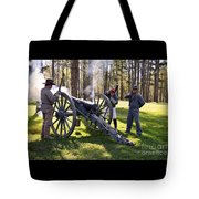 Firing The Cannon Tote Bag