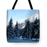 Firs In The Snow Tote Bag