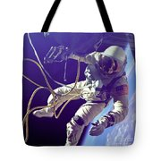 First American Walking In Space, Edward Tote Bag